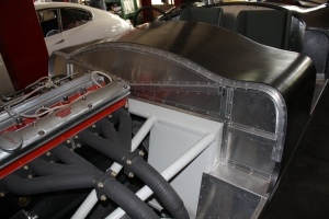 Firewall and engine compartment on C-Type
