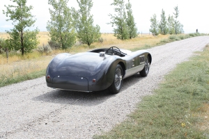 Rear view of C-Type Replica by Vintage Jag Works