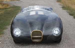 Front view of C-Type Replica by Vintage Jag Works