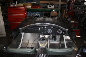 Dash and gauges installed in C-Type replica